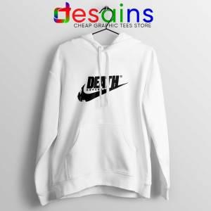 Death Just Do It White Hoodie Japanese Nike Parody Hoodies Unisex