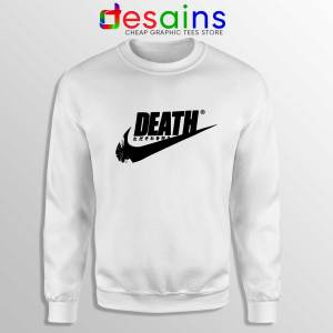 Death Just Do It White Sweatshirt Japanese Just Do It Cheap Sweater