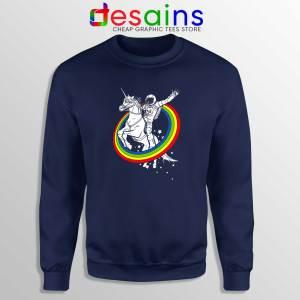 Astronaut Ride On Unicorn Navy Sweatshirt Epic Combo Crewneck Sweater