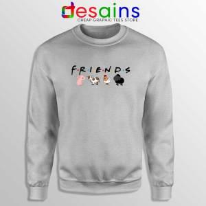 Friends Not Food Sport Grey Sweatshirt Sweater Vegan Friends