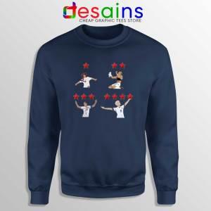 Megan Rapinoe USWNT 4 Stars Navy Sweatshirt USWNT Sweater Unisex