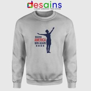 Megan Rapinoe Win Again Sport Grey Sweatshirt Making America Win Again