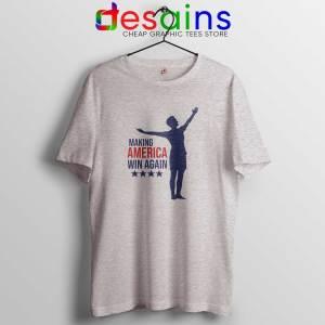 Megan Rapinoe Win Sport Grey Tee Shirt Making America Win Again