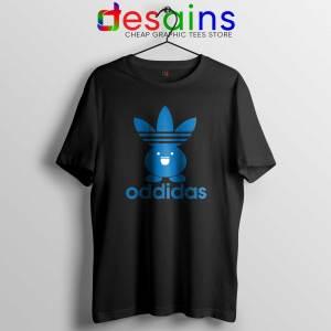Oddidas Oddish Pokemon Black Tee Shirt Adidas Classic Pokemon Tshirt
