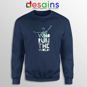Rapinoe Who Run the World Navy Sweatshirt Megan Rapinoe Sweater