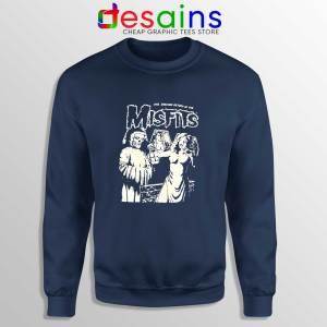 Shocking Return Of The Misfits Navy Sweatshirt Crewneck Sweater Misfits
