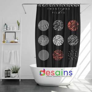 Shower Curtain Blurryface Album by Twenty One Pilots Custom Curtain
