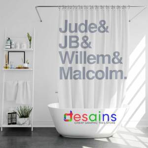 Shower Curtain Jude JB Willem Malcolm Cheap Graphic Curtains