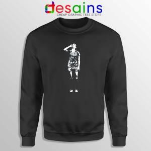 Sweatshirt Black Alex Drinking Tea Crewneck Sweater Alex Morgan On Sale
