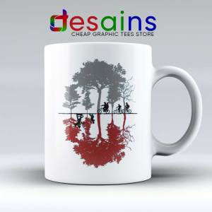 Upside Down Stranger Things Mug - Ceramic Coffee Mugs Stranger