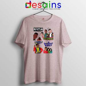 90s Martin Sitcom Mashup Sport Grey Tshirt Cheap Graphic Tee Shirts Martin