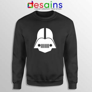 DarthJeep Star Wars Black Sweatshirt Crewneck Sweater Darth Vader Jeep