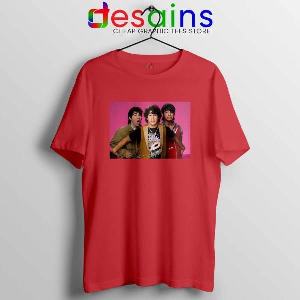 Jonas Brothers Vintage Red Tshirt Cheap Jobros Tee Shirts Merch