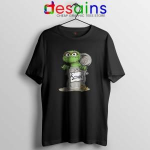 Oscar the Grouch Scram Black Tshirt Cheap Tee Shirts Oscar