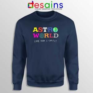Astroworld Look Mum I Can Fly Navy Sweatshirt Travis Scott Sweater S-2XL