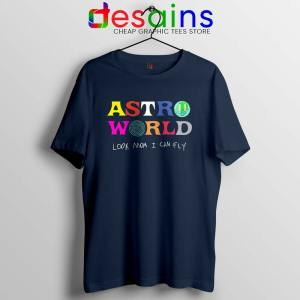 Astroworld Look Mum I Can Fly Navy Tshirt Buy Travis Scott Tee Shirts S-3XL