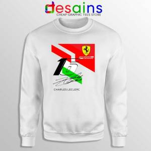 Charles Leclerc Signature Sweatshirt Driver Scuderia Ferrari Sweater