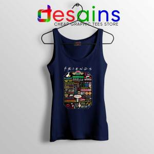 Friends TV Show Quotes Navy Tank Top The Best Friends Quotes Tank Tops