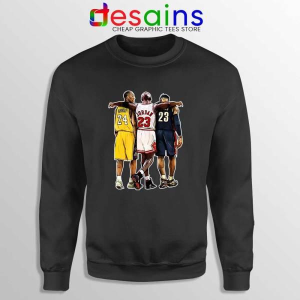 Kobe Bryant x Michael Jordan x Lebron James Black Sweatshirt NBA
