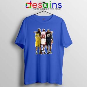 Kobe Bryant x Michael Jordan x Lebron James Blue Tshirt Cheap Tees Shirts