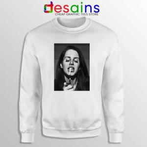 Lana Del Rey Smoking White Sweatshirt Cheap Gildan Sweater Lana Poster