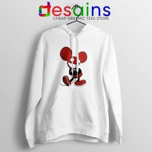Mickey Mau5 White Hoodie Deadmau5 Mickey Mouse Hoodies GILDAN