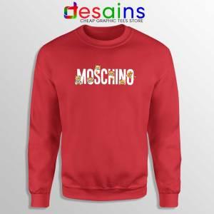 Moschino Teddy Bear Red Sweatshirt Moschino Sweater GILDAN S-2XL