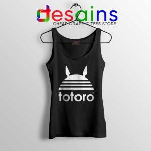 My Neighbor Totoro Adidas Black Tank Top Totoro Parody Tank Tops S-3XL
