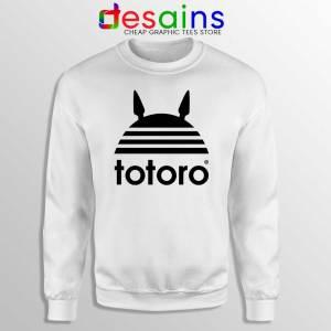 My Neighbor Totoro Adidas White Sweatshirt Totoro Parody Sweater S-2XL