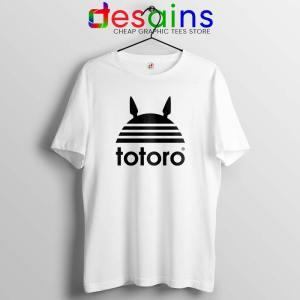 My Neighbor Totoro Adidas White Tshirt Totoro Parody Tee Shirts S-3XL