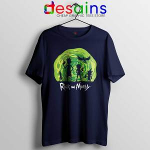 Schwifty Patrol Rick And Morty Navy Tshirt Schwifty Tee Shirts