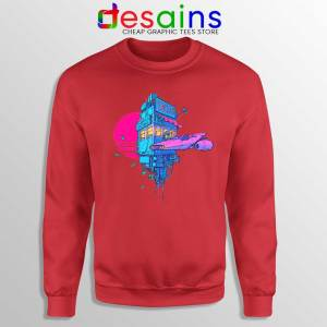 Tacos Sunset Space Red Sweatshirt Cheap Crewneck Sweater Taco S-2XL