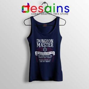 The Weaver of Lore and Fate Navy Tank Top Dungeon Master Tank Tops Game