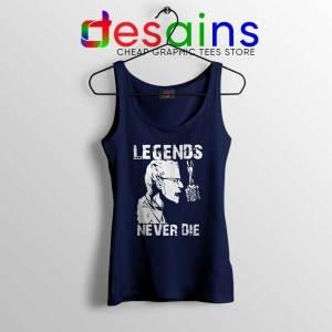 Chester Bennington Legends Never Die Navy Tank Top Linkin Park Merch Shirt
