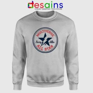 Flash Barry Allen All Star Sport Grey Sweatshirt Converse Logo Sweater