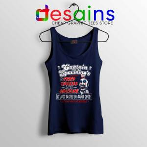 Fried Chicken and Gasoline Navy Tank Top Captain Spaulding Tank Tops S-3XL