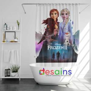 Frozen 2 Poster Art Shower Curtain Disney Frozen Film Curtains