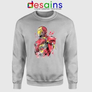 Iron Man Hurt Sport Grey Sweatshirt Hurt Tony Stark Sweater S-3XL