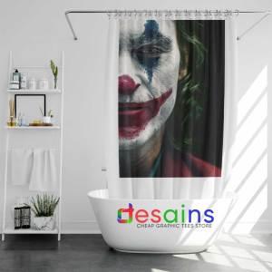 Joker Face Poster Shower Curtain Film Joker 2019 Curtains