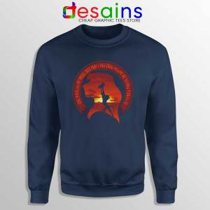 Learn From It The Lion King Navy Sweatshirt Quotes Disney Sweater S-3XL