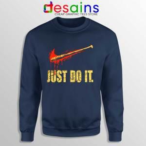 Lucille Just Do It Navy Sweatshirt The Walking Dead Sweater Size S-3XL