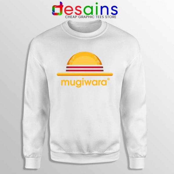 Mugiwara One Piece White Sweatshirt Monkey D Luffy Sweater S-3XL