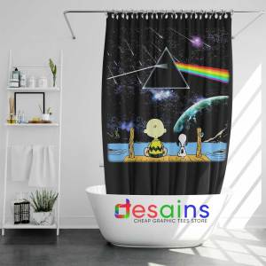 Pink Floyd Snoopy Shower Curtain Dark Side of the Moon Curtains