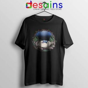 Sleep My Neighbor Totoro Black Tshirt Studio Ghibli Tee Shirts S-3XL