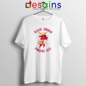 Summon Someone Else White Tshirt Demon Cute Tee Shirts S-3XL