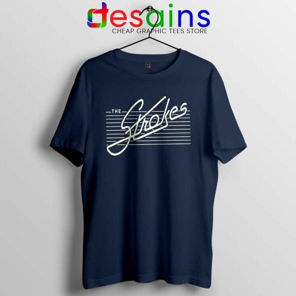 The Strokes Merch Navy Tshirt Cheap Graphic Tee Shirts Size S-3XL