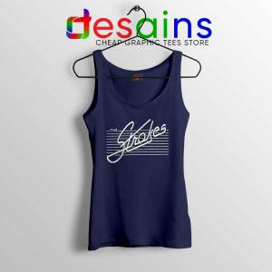 The Strokes Rock Band Navy Tank Top Music Merch Tops Size S-3XL