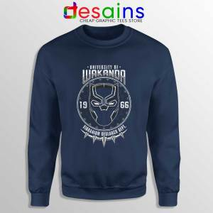 University Of Wakanda Navy Sweatshirt Black Panther Sweater S-3XL