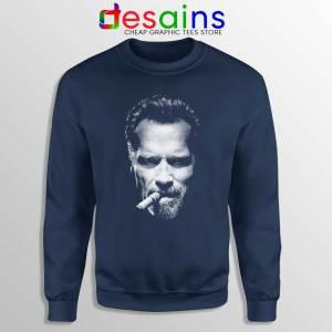 Arnold Schwarzenegger Terminator Navy Sweatshirt Arnold Sweater