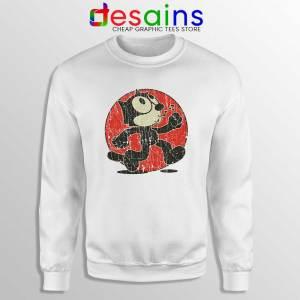 Felix the Cat Vintage White Sweatshirt Cartoon Characte Sweater